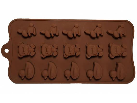 Форма силикон для конфет Детский Звери, фото 2