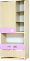 Книжный шкаф Терри Світ Меблів 80х182.5х42.5 клен/розовый, фото 1