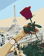 """Картина  по номерам  """"Роза"""" 35х45см"""