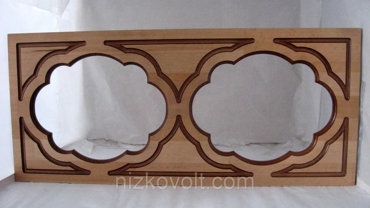 Фасад для кухни под стекло коричневый