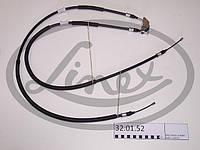 АНАЛОГ для Opel 522450 0522450 GM 24468130 Трос ручного (стояночного) тормоза (1235/1040+1040 ММ ДЛИН.) 0522450 24468130 (ИСПОЛЬЗУЕТСЯ, ЕСЛИ