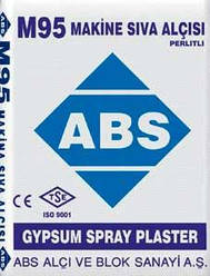 М-95 ABS Машинная гипсовая штукатурка 35 кг. Стандарт TS EN 13279-1,2