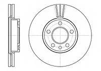 Тормозной диск передний VW TRANSPORTER T5,TOUAREG (-2010г) (пр-во ABE C3W037ABE)