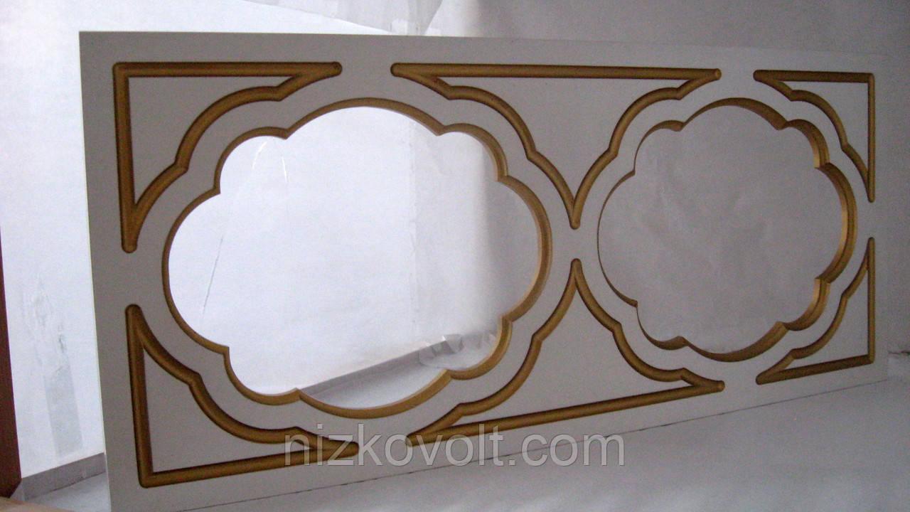 Белый фасад для кухни под стекло (290*660*18)