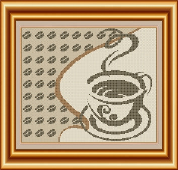 Схема для вышивки бисером Філіжанка кави. Арт. СКВ-60