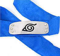 Бандана Схованого Аркуша (синя) | Наруто, фото 1