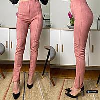 Женские замшевые брюки-лосины, фото 1