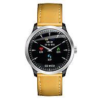 Умные часы Blaze Watch N58 Leather с тонометром и ЭКГ (Коричневый), фото 1
