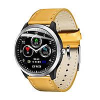 Умные часы Lemfo N58 Leather с измерением давления и ЭКГ (Коричневый), фото 1