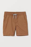 Детские твиловые шорты на резинке и завязках для мальчика