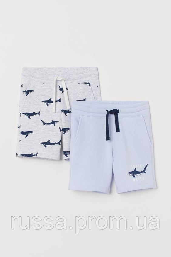 Детские летние шортики с акулами для мальчика (поштучно)
