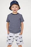 Детские летние шортики с акулами для мальчика (поштучно), фото 2