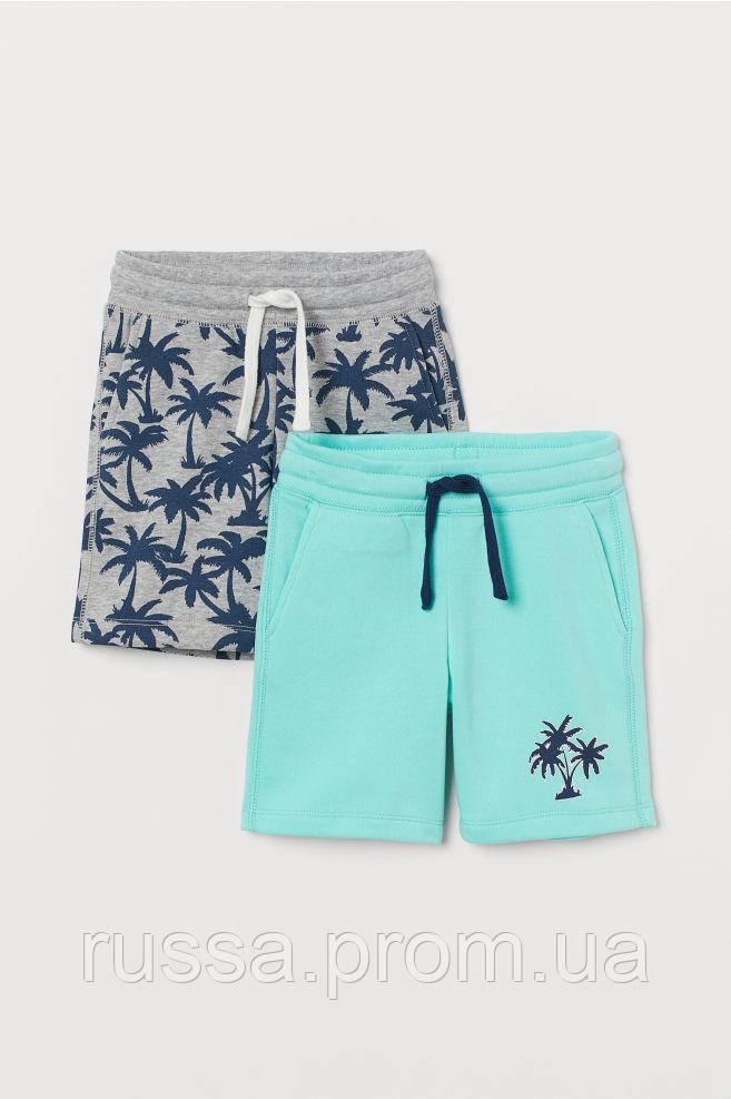 Летние шортики с флисовым начесом Пальмы для мальчика (поштучно)