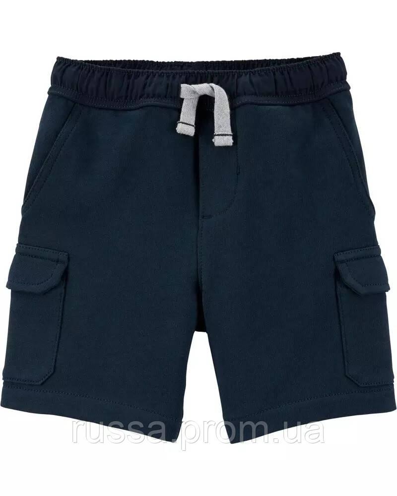Детские синие трикотажные шорты Картерс для мальчика