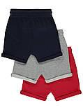 Однотонные трикотажные шортики с отворотами Джордж для мальчика (поштучно), фото 2
