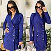 Платье-пиджак из костюмной ткани