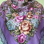 Воздушное настроение 1661-15, павлопосадский платок шерстяной  с шелковой бахромой, фото 3