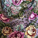 Воздушное настроение 1661-15, павлопосадский платок шерстяной  с шелковой бахромой, фото 4