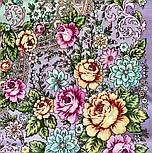 Воздушное настроение 1661-15, павлопосадский платок шерстяной  с шелковой бахромой, фото 5