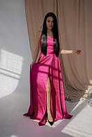 """Вечернее длинное платье """"Доротея"""" с открытой спиной и шнуровкой (4 цвета)"""