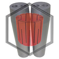 Фильера двухканальная для машин непрерывного литья, фото 1