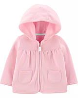 Розовая толстовочка на флисовом начесе Картерс для девочки