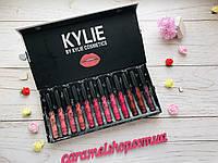 Набор помад Kylie в черной мраморной коробке 12 шт