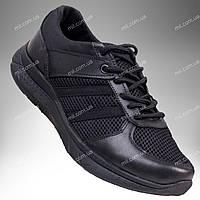 Летние облегченные кроссовки АХИЛЕС (черный глад кожа)