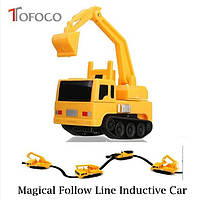 Индуктивный игрушечный автомобиль для детей Inductive Truck Бур от 5лет, пластик, от батареек LR44, детские игрушки, детские машинки