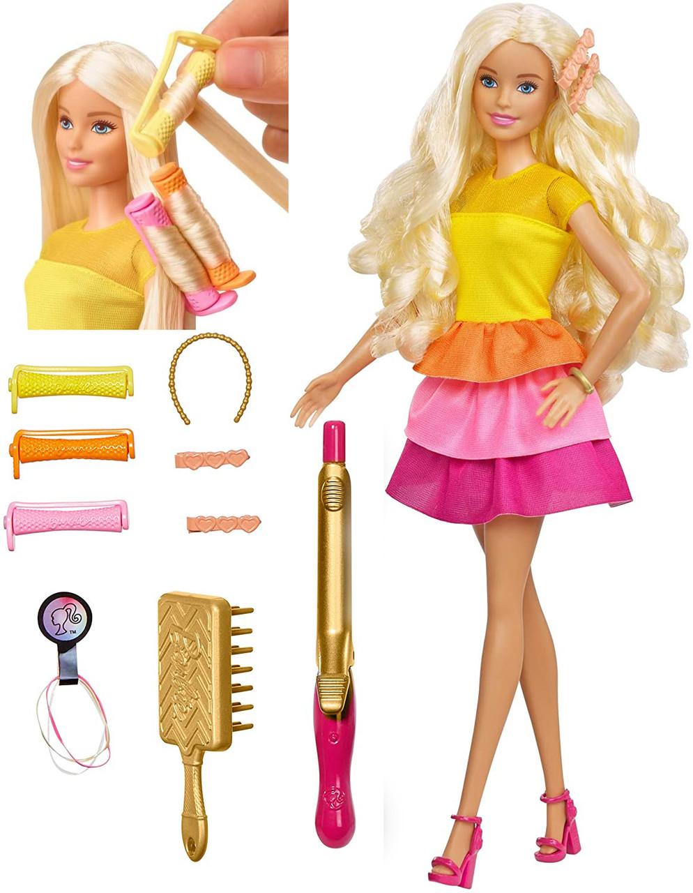 Кукла Барби - Роскошные локоны создай прическу Barbie Ultimate Curls Blonde Doll and Hairstyling