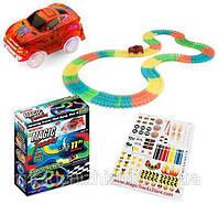 Мэджик Трек Magic Tracks 220 деталей с гоночной машинкой, от 3х лет, пластик, трек гоночный, гонки