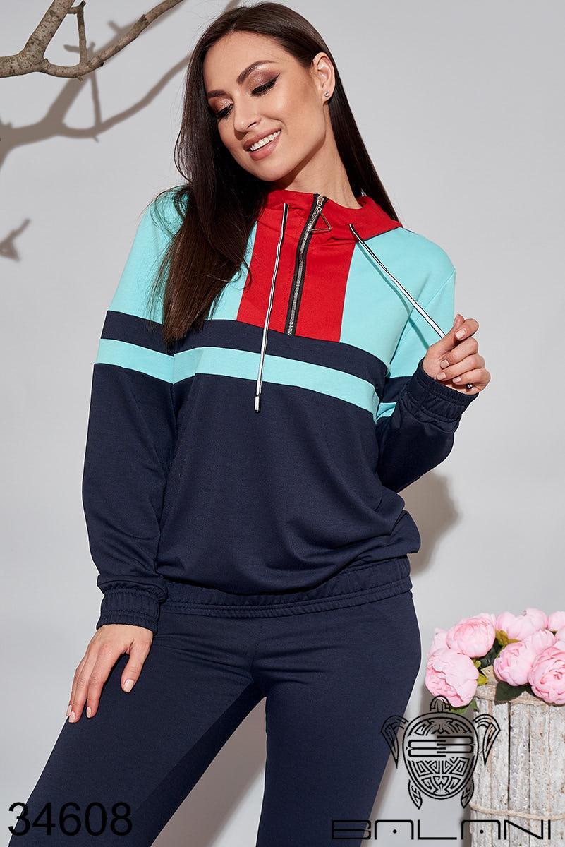 Женский спортивный костюм синий 48-50,52-54,56-58,60-62