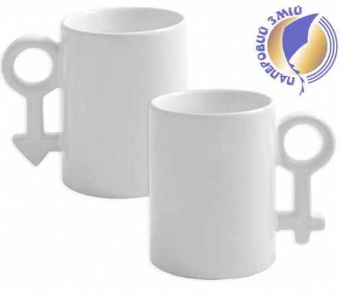 Кружки для влюбленных Пара женский и мужской символ (2 шт)