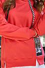 Женский прогулочный брючный костюм красный трикотаж двунитка спортивный молодёжный, фото 4