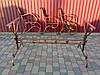 Скамейка садовая боковины кованые с листьям 2 шт., фото 5