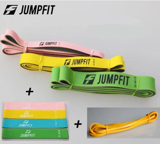 Фітнес гумки + гумові петлі. Фітнес набір гуми JUMPFIT Pro