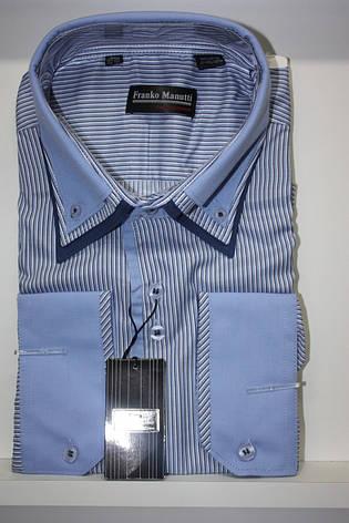 РАСПРОДАЖА!!! Рубашка с длинным рукавом в полоску Franko Manutti, фото 2