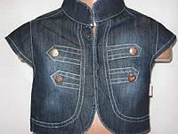 Детская джинсовая жилетка для девочки