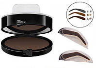 Штамп пудра для бровей Eyebrow Beauty Stamp коричневый, штамп для бровей, набор штампов для бровей, тени для бровей