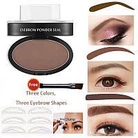 Штамп пудра Beauty Stamp Eyebrow, штамп для создания формы бровей