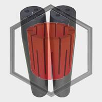 Фильера четырехканальная для машин непрерывного литья