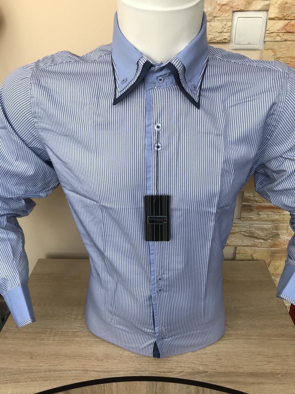 РАСПРОДАЖА!!! Рубашка с длинным рукавом в полоску Franko Manutti
