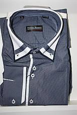 Розпродажів! Сорочка з довгим рукавом в клітку Franko Manutti, фото 3