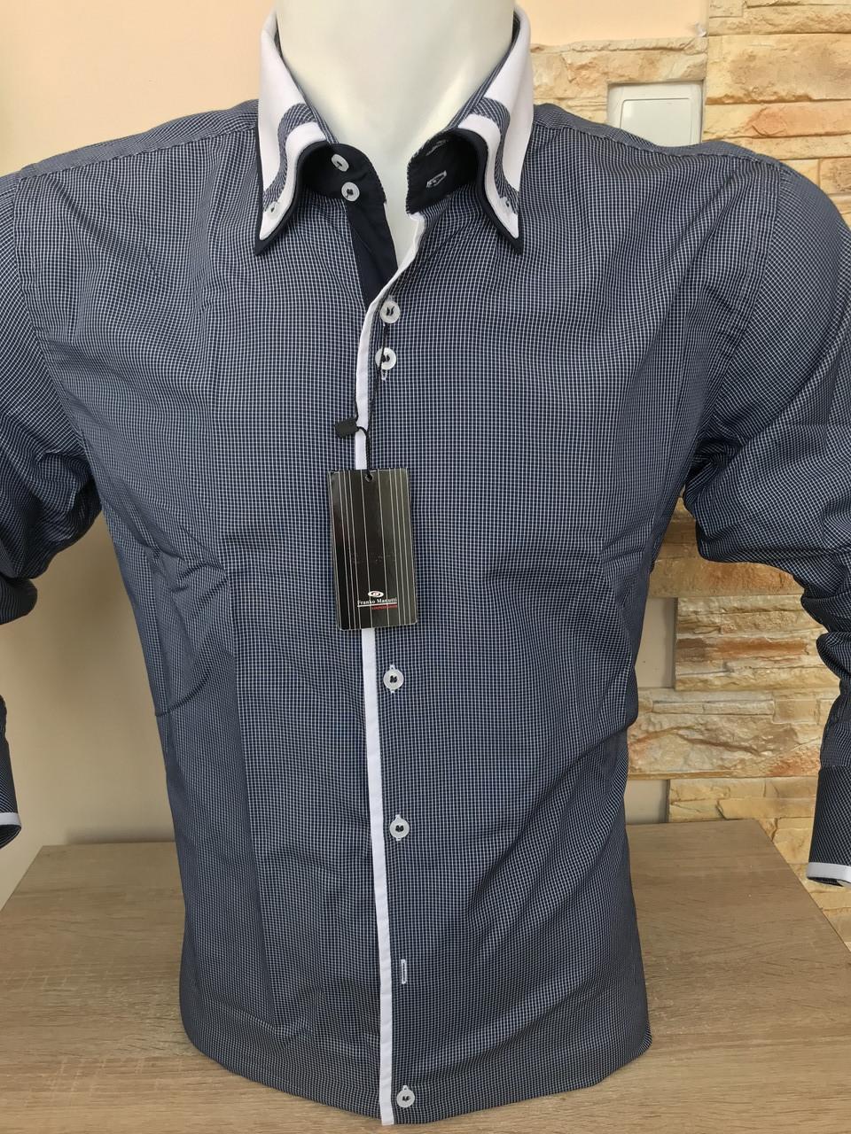 Распродаж! Рубашка с длинным рукавом в клетку Franko Manutti