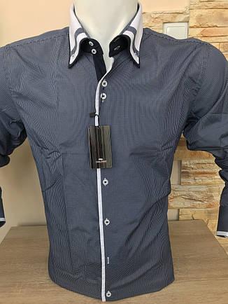 Розпродажів! Сорочка з довгим рукавом в клітку Franko Manutti, фото 2