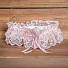 Пудровая подвязка для невесты (арт. G-014)