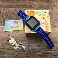 Детские умные смарт часы-телефон Baby Smart Watch S9 с камерой и GPS трекером слежения синие