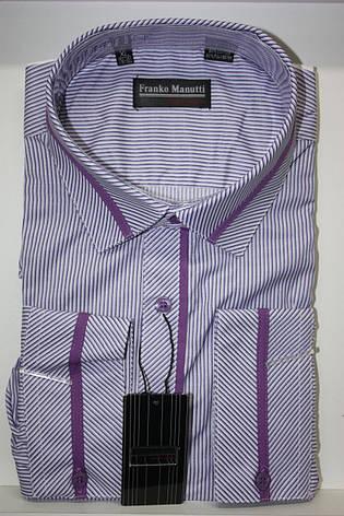 Чоловіча сорочка  Franko Manutti в полоску, фото 2