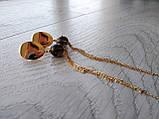 Серьги с позолотой ′Раухтопаз и цепочки′, фото 3