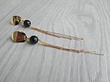 Серьги с позолотой ′Раухтопаз и цепочки′, фото 2